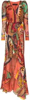 Etro pattern clash maxi dress