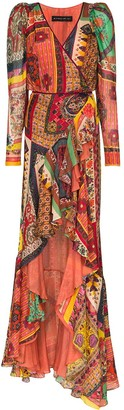 Etro Pattern Clash Maxi Dress
