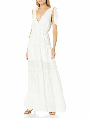Finders Keepers findersKEEPERS Women's Sleeveless V-Neck Lucietti Tiered Illusion Maxi Dress