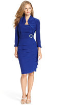 Jessica Howard Sleeveless Tiered Dress and Jacket