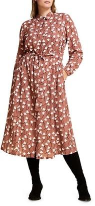 Marina Rinaldi, Plus Size Mr. Voyage Decorare Floral Shirtdress