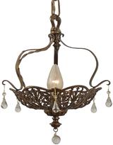 Rejuvenation Romance Revival Basket Pendant w/ Drops c1928