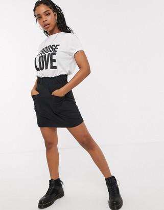 Noisy May jersey mini skirt in black