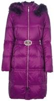 Roberto Cavalli belted padded coat