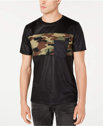 GUESS Men Camo Blocked T-Shirt