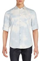 Calvin Klein Jeans Bleached Denim Western Shirt