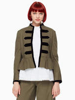Kate Spade Velvet trim military jacket