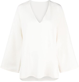 Valentino Long Bell Sleeves Blouse
