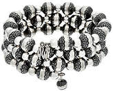 American West Sterling Silver Stamped & Polished Bead Bracelet