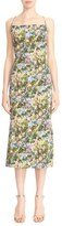 Cushnie et Ochs Women's Floral Stretch Cady Lace-Up Back Dress