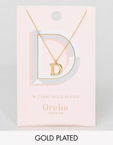 Orelia Gold Plated Large D Initial Necklace