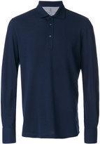 Brunello Cucinelli long sleeve polo shirt - men - Cotton/Wool - M