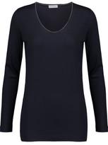 Brunello Cucinelli Bead-Embellished Wool-Jersey Top