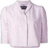 Max Mara Pianoforte - jacquard cropped jacket - women - Silk/Cotton/Polyamide - 42