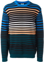 Kenzo stripe knitted sweater - men - Cotton/Polyamide - XS
