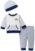Little Me Boys' Stripe Mix Shirt, Pants & Hat Set