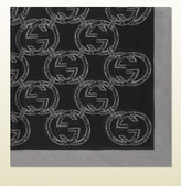 Gucci interlocking G print silk chiffon scarf