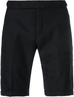 Thom Browne Sateen 4-Bar Silk Tipping Short