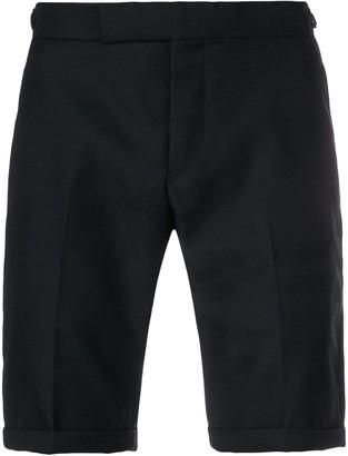 Thom Browne Sateen 4-Bar Silk Tipping Short