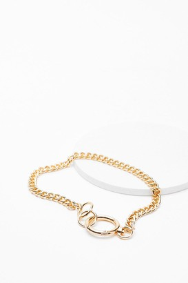 Nasty Gal Womens In Chain Sight O-Ring Necklace - Gold