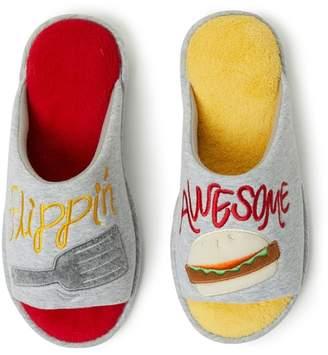 Dearfoams Flippin' Awesome Novelty Slippers
