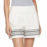 Apt. 9 Women's Embroidered Linen Blend Shorts