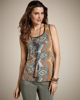 Chico's Horizontal Geo Sequin Tank