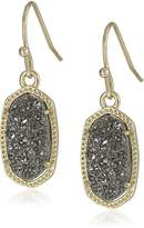 "Kendra Scott Signature 2015"" Gold and Platinum Drusy Color Li Drop Earrings"