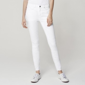 The White Company Symons Skinny Jeans - 30 length, White, 8