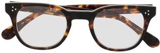 Eyevan 7285 Tortoiseshell Rectangular-Frame Glasses