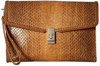 Brahmin Everett Ruth Clutches (Cognac) Clutch Handbags