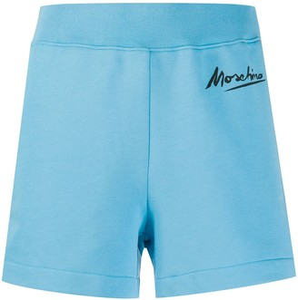 Moschino Logo Signature running shorts