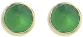 Jamie Joseph Rose Cut Green Onyx Stud Earrings