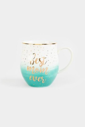 francesca's Best Mom Ever Ombre Mug in Turquoise - Turquoise