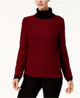 Karen Scott Cotton Turtleneck Sweater, Created for Macy's