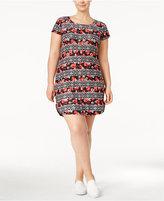 Planet Gold Trendy Plus Size Kylie T-Shirt Dress