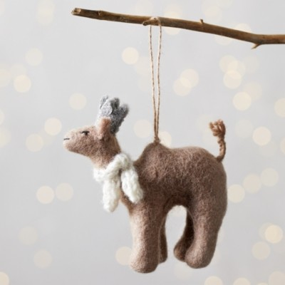The White Company Noel the Camel with Party Hat Christmas Decoration, Multi, One Size