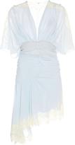 John Galliano Silk Georgette Laced Short Dress