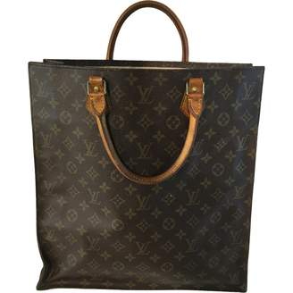 Louis Vuitton Plat Brown Cloth Handbag