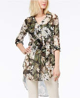 INC International Concepts I.n.c. High-Low Floral-Print Tunic, Created for Macy's