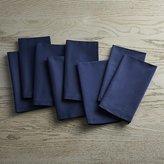 Crate & Barrel Fete Navy Blue Cloth Napkins, Set of 8