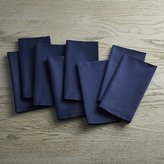 Crate & Barrel Fete Navy Blue Cloth Napkins Set of Eight