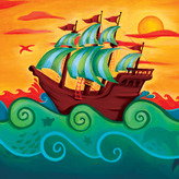 Pirate Ship Canvas Reproduction