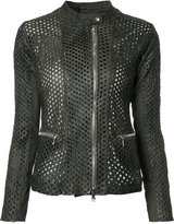 Giorgio Brato perforated detail jacket - women - Leather - 42