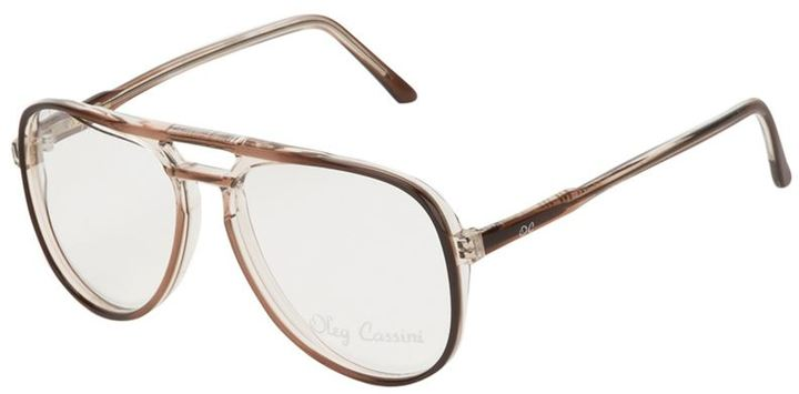 Oleg Cassini Vintage oval frame eye glasses