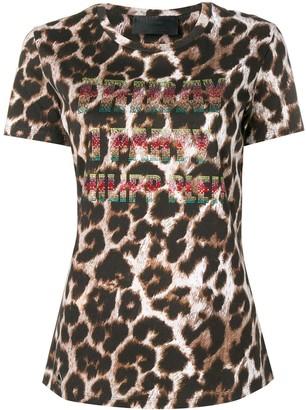 Philipp Plein leopard print T-shirt