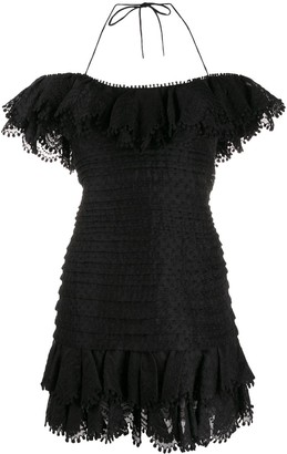 Zimmermann Halterneck Upper Peplum Dress