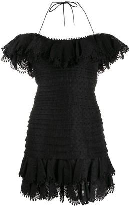 Zimmermann halterneck upper peplum dress