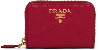 Prada Logo-Lettering Zipped Cardholder