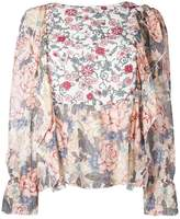 See by Chloé multi floral blouse